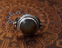 Antique Afghanistan Silver Ring with Agate