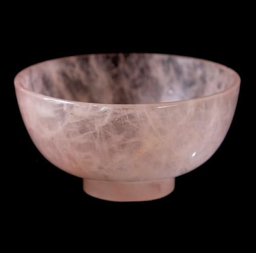 Rose Quartz Gemstone Bowl - 80 mm