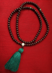 Rosewood Mala with Jade Dividers - 8.5 mm
