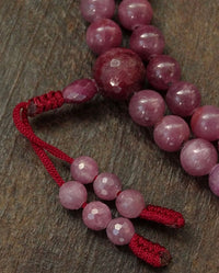 Rare Ruby Mala with Round Beads - 8mm