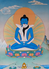 Samantabhadra or Kuntu Zangpo in Union Thangka