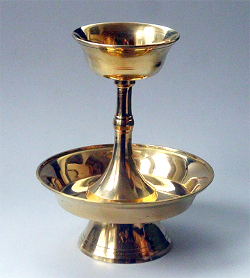 Brass Serkyem Offering Set - 6 inches height