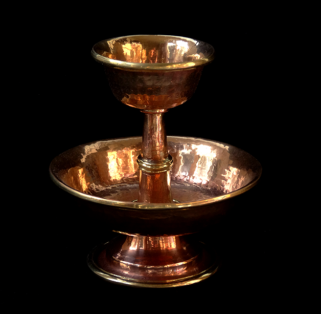Hand Hammered Copper Serkyem - 5.5 inches