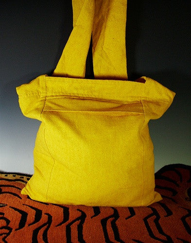 Fine Bhutanese Silk Sangha Bag - Yellow