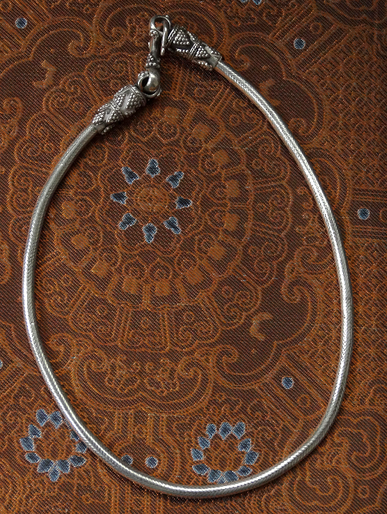 Vintage Hilltribe Silver Rope Chain Necklace - India