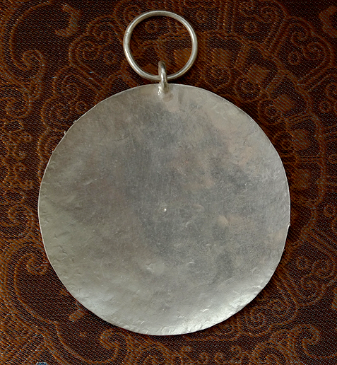 Hand Hammered Silver Melong Mirror - 50 mm