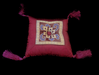 Singing Bowl Cushion - Silk - Eternal Knot Design