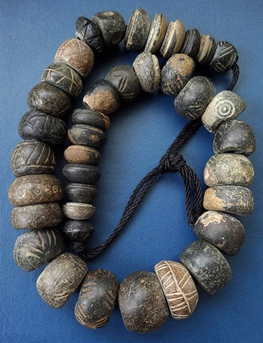 Ancient Strand of Spindle Whorl Beads - Western Asiatic - 38 beads