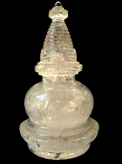 Himalayan Rock Crystal Stupa - 5 inches