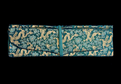 Large Turquoise Brocade Prayer Text Holder
