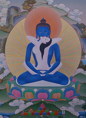 Samantabhadra in Union Thangka