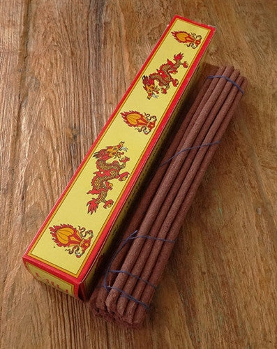 Bhutanese Men Tsi Khang - Thunder Dragon Incense - Yellow Box