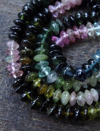 Natural Tourmaline Gemstone Strand - 16 inches