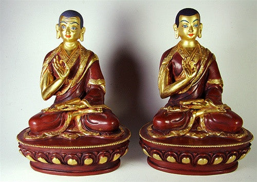 Khedrup Je and Gyaltsap Je (pair)