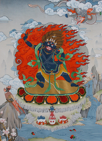 Vajrapani Thangka - Fine Art Thangka Reproduction - by Flera Birmane