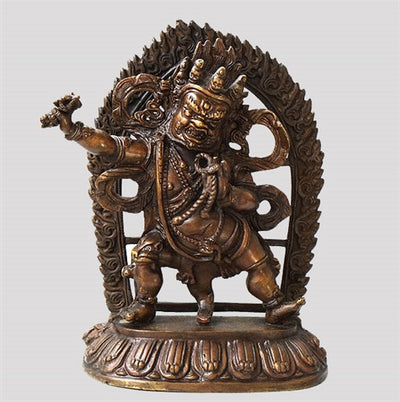 Antique Vajrapani Statue - 8.5 inches