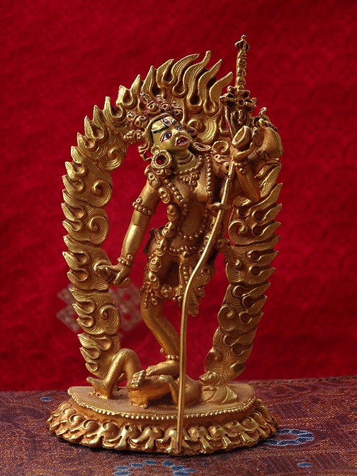 Small Gilded Vajrayogini Statue (raised leg form)