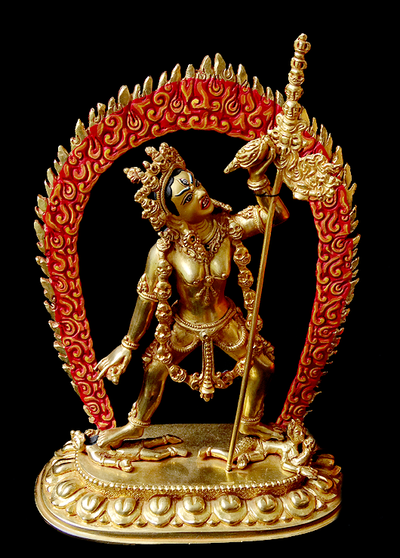 Vajrayogini Statue - Fully Gilded - 8 inches