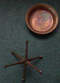 Hand Hammered Copper & Silver  Water Torma (Chutor) Offering Set