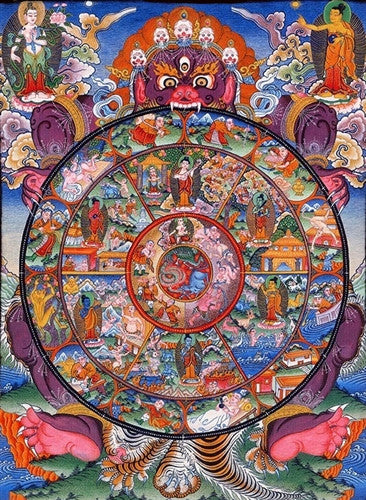 Tibetan Wheel of Life ~ Fine Art Giclee Print