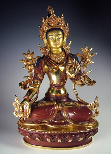 White Tara Statue - 12 inches
