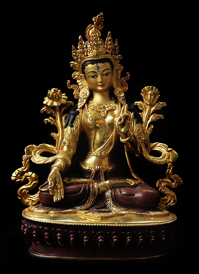 Fine Quality White Tara Statue - 8 inches