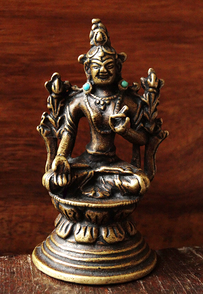 Vintage White Tara Statue - 2.6 inches