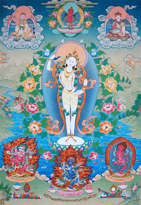 Masterpiece Yeshe Tsogyal Thangka - Dakini Heart Essence