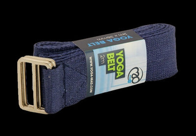 BLUE COTTON YOGA BELT - 2 Metre