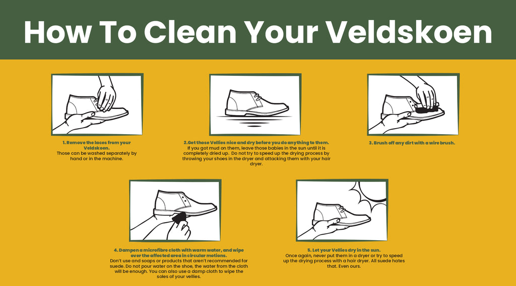 How to clean your Veldskoen. How to clean your Vellies