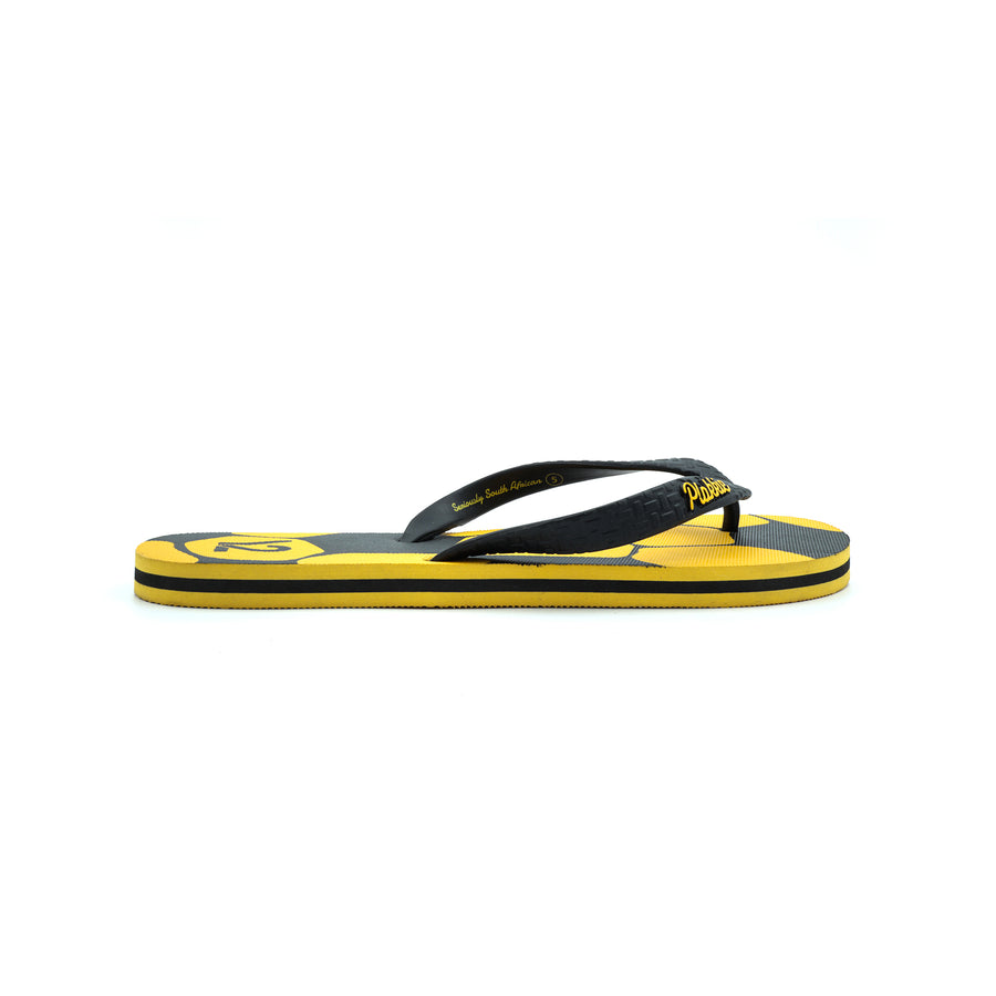 Football Unisex Y2 & Plakkie / Flip Flop - (Yellow and Black)