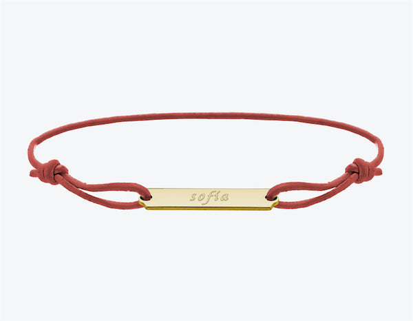 ID Bracelet in Yellow Gold