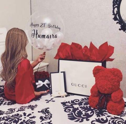 Red Rose Bear with Gucci Gifts