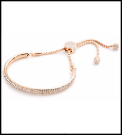 Loverocks Crystal Bar Friendship Bracelet with Pave Slider