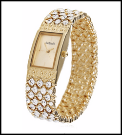 LoveRocks London Crystal Stretch Bracelet Watch