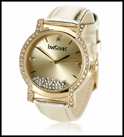 LoveRocks London Floating Crystal Watch