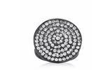 loveRocks Crystal Pave Disc Ring