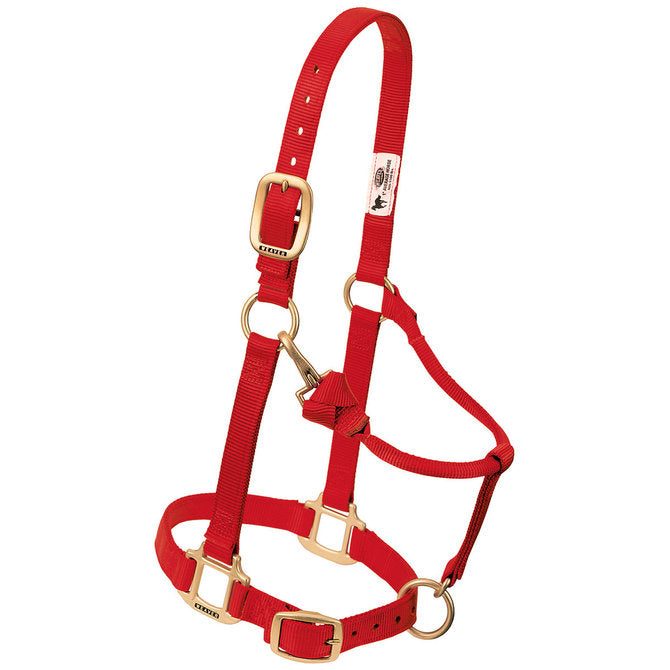 Weaver Adjustable Nylon Halter - Red