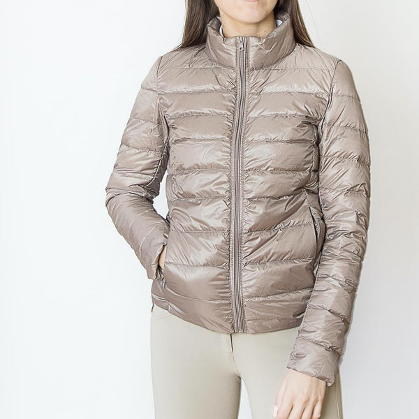 The 'EZ' Packable Down Jacket - Champagne