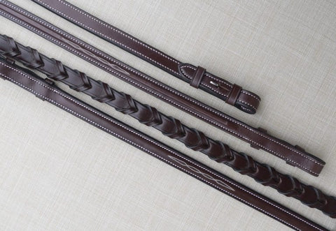 Red Barn Square Raised Fancy Stitch Reins