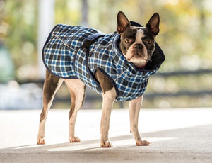 FITS Blue Plaid Dog Jacket