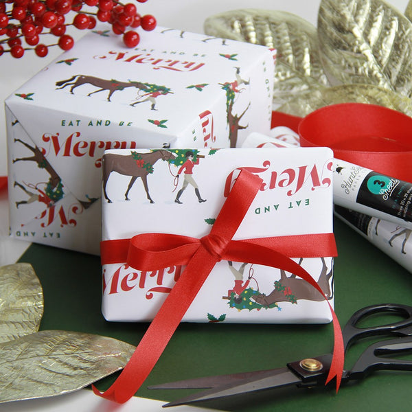 Eat & Be Merry Gift Wrap