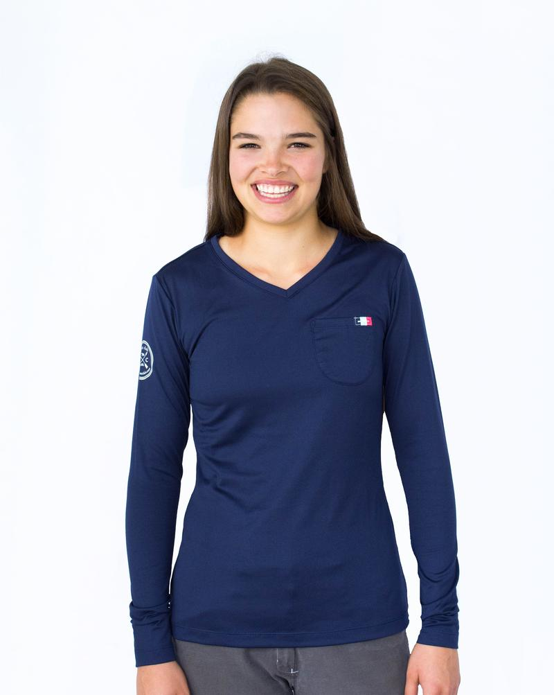 Hunt Club Long Sleeve Pocket Tee - Navy