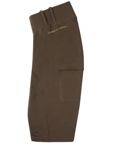 Noble Equestrian Full-Seat Balance Riding Tights - Brown