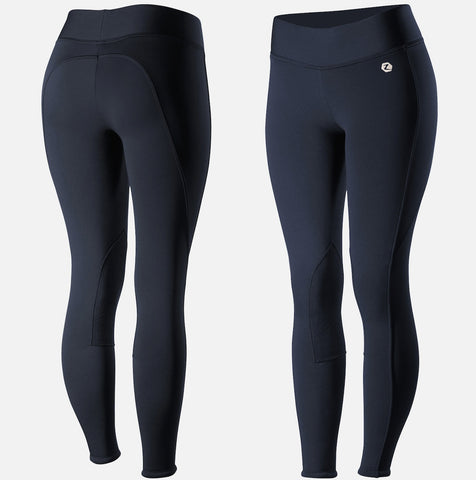 Horze Women's Active Winter Knee Patch Tights