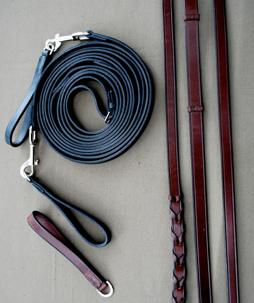 KL Select Red Barn Draw Reins