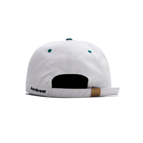 Crash 6 Panel Cap - White/Forest