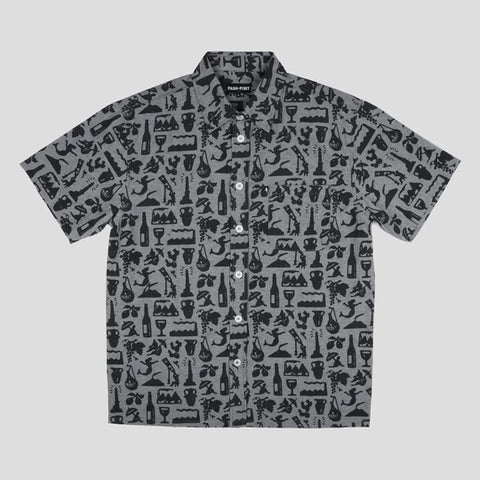 Passport Skateboards - Life of Leisure S/S Button Up Shirt Black