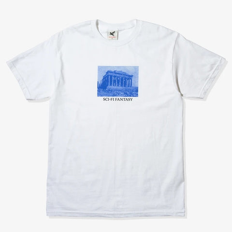 Sci Fi Fantasy - Pantheon Building Tee White