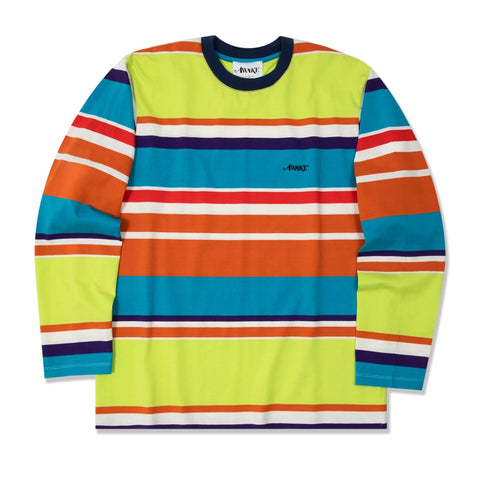 Awake NY - Embroidered Logo L/S Engineered Stripe Tee